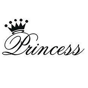 Various Color Beautiful Princess Crown Wall Sticker For Bedroom
