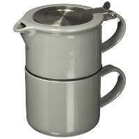 FORLIFE Tea for One with Infuser 14 ounces, Gray by FORLIFE