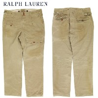 "Polo by Ralph Lauren Men's ""SLIM GI FIT"" Ghurka pants ラルフローレン ダメージ チノパンツ"