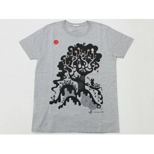 "p.c.a.d. Kinpro ""Birth..."" S/S TEE グレー [新矢千里 Protect Children Against Danger 半袖チャリティーアートTシャツ]..."