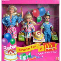 Barbie バービー バースデー マクドナルド ステーシー&トッド Birthday Fun at McDonald's Gift Set A Party For Stacie & Todd! ...