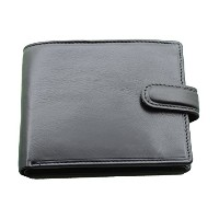 Topsum London RFID Blocking Genuine Leather Bifold Wallet With Zip Coin Pocket for Men's #4003