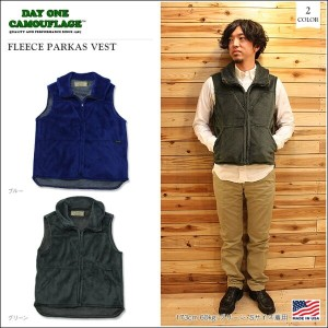 【DAY ONE/デイワン】FLEECE PARKAS VEST 2color