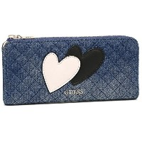 (ゲス) GUESS GUESS 財布 ゲス DG669452 DEN CAREY CAREY SLG SLIM ZIP WALLET 長財布 DENIM [並行輸入品]