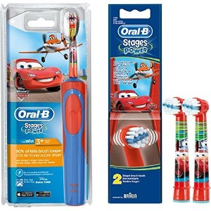 Braun Oral-B Stages Power D12.513K Advance Power Kids 900TX Rechargeable Disney Cars Toothbrush for...