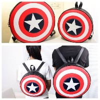 Avengers/ Captain America Shield backpack/ Couple backpack bag/ Shield Bags/ Book Bag/ High quality...