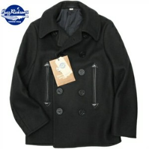 WILLIAM GIBSON by BUZZ RICKSON'S(ウイリアムギブソン バズリクソン)Type BLACK PEA COAT 36oz. ウールメルトン