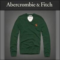 【15%OFFセール 7/22 10:00〜7/25 9:59】 アバクロ Abercrombie&Fitch 正規品 メンズ Vネックセーター Morgan Mountain Sweater...
