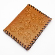 CRAZY PIG DESIGNS(クレイジーピッグ) MEXICAN SKULL CARD CASE/BR
