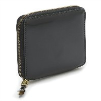 【15%OFF】COMME des GARCONS ウォレット MIRROR INSIDE ZIP AROUND LONG WALLET SA2100MI gd BLACK / GOLD ブラック...
