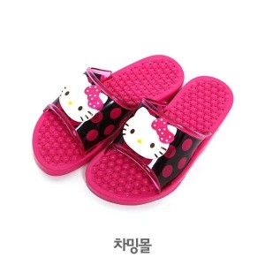 ★Hello Kitty Sweet Dot Slippers★ Character Bath shoes Children adults(2 size) made in korea...