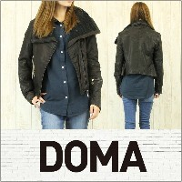 DOMA LEATHER ドマ レザー ジャケット NICOLE IRREGULAR JACKET [Lamb leather] 【旧作SALE】
