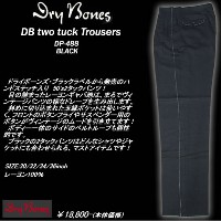 DRY BONESドライボーンズ◆DB Two tuck TrousersBLACK◆DP-488