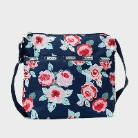 レスポートサック LeSportsac SMALL CLEO CROSSBODY HOBO ショルダーバッグ NAVY ROSE 7562 D782