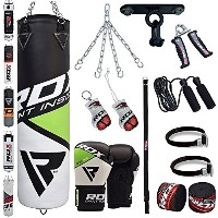 RDX Punch Bag Boxing セット 4FT 5FT Filled Heavy グローブ Ceiling Hook チェーン Training MMA 13PC Punching...