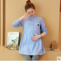 Loose in the long section of the first quarter of autumn maternity dress autumn clothes new