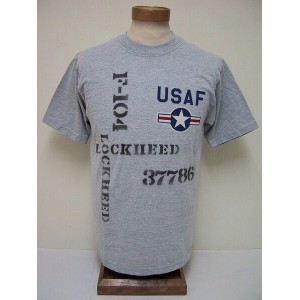 BuzzRickson's[バズリクソンズ] Tシャツ SKUNK WORKS USAF F-104 (H.GRAY)