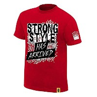 "【WWE / NXT】中邑真輔 Nakamura shinsuke ""Strong Style Has Arrived"" Tシャツ (L) [並行輸入品]"