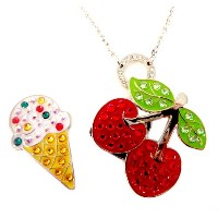 Navika Ladies Cherry & Ice Cream Necklace Ball Markers【ゴルフ レディース>ボールマーカー】