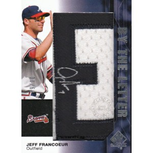 MLBカード【ジェフ フランコアー】2008 SP Authentic By The Letter Signatures 10枚限定!(09/10) / Jeff Francoeur