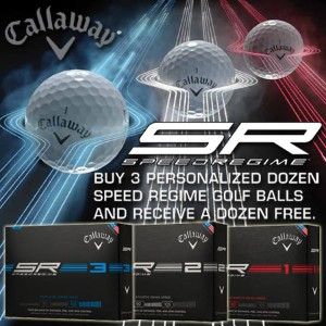 Callaway SpeedRegime Buy 3 Get 1 Free with Free Personalization【ゴルフ 特注/オーダーメイド>特注-ボール】