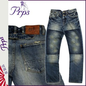 PRPS ピーアールピーエス ヴィンテージデニム ライトウォッシュ E63P58AX BARRACUDA REGULAR FIT LOW FRONT RISE STRAIGHT LEG LIGHT...