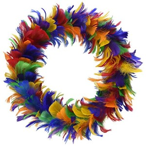 Beistle 57903-ggp Feather Wreath 12-Inch 57903-RB