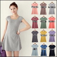 SG Delivery Fast Shipping! HALF SLEEVE MINI DRESS HIGH COTTON IN 12 PASTEL COLORS