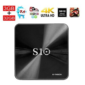 3G/32G R-TV BOX S10 Android 7.1 smartテレビ・ボックス + Amlogic-S912 OTT Octa Core セットト