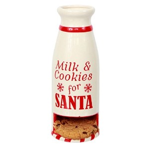 Santa 's Milk and Cookies MilkボトルコンボMug withポケットにPut A Cookie