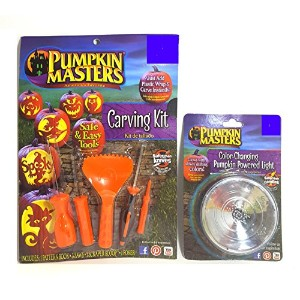 Pumpkin Masters 5 Piece Carving Kit and Color Changingライトバンドル
