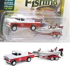 "JOHNNY LIGHTNING 1:64SCALE ""GONE FISHING 2017 RELEASE 2 "" ""1959 Ford F-250 w/Boat & Trailer(Roman..."