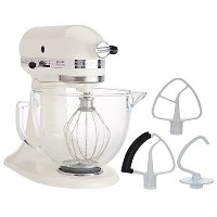 KitchenAid 5-Quart Stand Mixer Glass Bowl Cafe Latte by KitchenAid