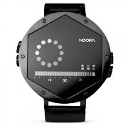 Nooka ヌーカ 男女兼用 腕時計 Unisex Quartz Watch with LCD Dial Digital Display and Black Leather Strap ZEX NT