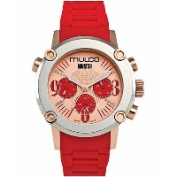 Mulco マルコ 腕時計 MW2-28049-063 Stainless Steel Chronograph MWATCH red band Watch