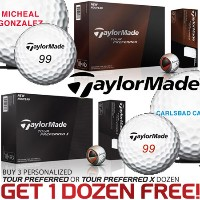 TaylorMade Tour Preferred Buy3 Get1 Free with Personalization【ゴルフ 特注/オーダーメイド>特注-ボール】