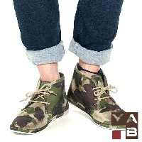 YAB SHOES YOU ARE BRAND 【MADE IN ITALY】イタリア製 カモフラージュ柄 チャッカブーツ スエードレザースニーカー CLARK MIMITICO...
