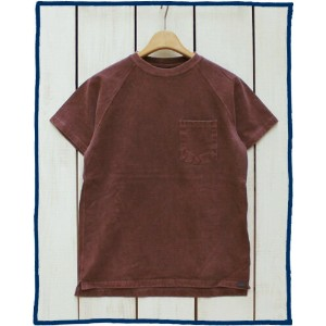 Good On Short Sleeve Raglan Heavy Pocket Tee 9oz / Bordeaux Pigment Dye グッドオン グットオン ラグラン ヘビー ポケット...