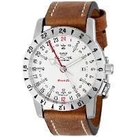 "Glycine グリシン メンズ腕時計 3887-11-LB7 ""Airman Base 22"" Stainless Steel Automatic Watch with Leather Band"