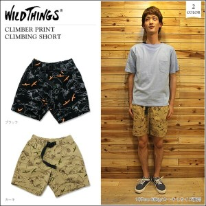 WILDTHINGS(ワイルドシングス)CLIMBER PRINT CLIMBING SHORT 2color