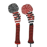 Just 4 Golf Ladies Red and Black Sprit Stripe Headcover【ゴルフ レディース>ヘッドカバー】