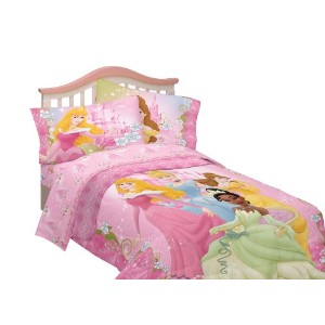 ディズニー プリンセス 掛け布団 寝具 Disney Dainty Princess Microfiber Comforter, Twin/Full