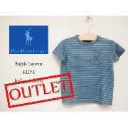 【SALE】【OUTLET】【メール便 可】【KID'S】【POLO by Ralph Lauren】ラルフローレン キッズ インディゴ ボーダーTシャツ【あす楽対応】