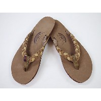 "RAINBOW Sandals CLASSIC LEATHER Single Layer Arch ""Twisted Sister""ダークブラウン/シエラブラウン [ヌバック レインボー..."