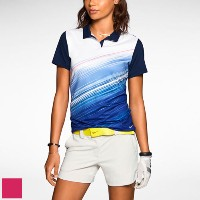 Nike Ladies Speed Stripe Mesh Polo Shirts【ゴルフ レディース>トップス】