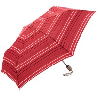 Knirps クニルプス 折りたたみ傘 Flat Duomatic Umbrella, Stripes Red, One Size