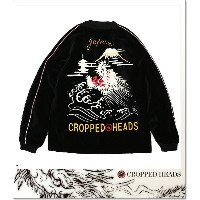 CROPPED HEADS 吼龍柄ハーフ丈別珍スカジャン (SKA:JACKET)