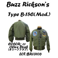 "BUZZ RICKSON'SバズリクソンズB-15C Olive(Mod.) ""B.RICKSON MFG.CO.""152nd Fighter Interseptor Sq. 162nd Ftr...."