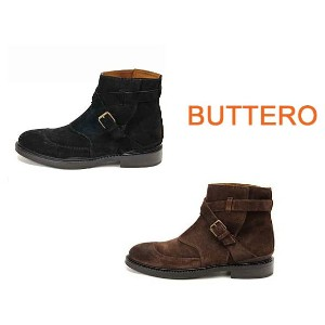 【BUTTERO】ブッテロ メンズ ショートブーツ スエードレザー B4400 SCAA(SUEDE LEATHER)