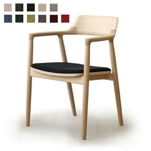 MARUNI COLLECTION HIROSHIMA ARM CHAIR cusioned(beech)No.2956-31 M-02(cc-nt)【マルニ木工/ヒロシマアームチェアクッション...